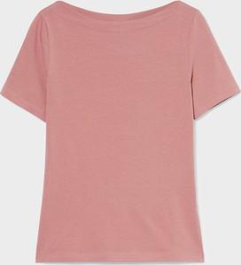 Różowy t-shirt C&A z krótkim rękawem
