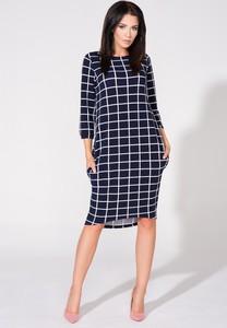 Niebieska sukienka sukienki.pl w stylu casual midi z dzianiny