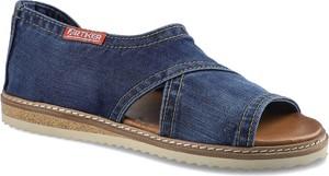 Granatowe sandały ARTIKER RELAKS w stylu casual