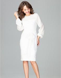 Sukienka LENITIF z długim rękawem midi