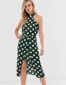 Zielona sukienka Ax Paris midi bez rękawów