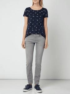 Granatowa bluzka Esprit z okrągłym dekoltem