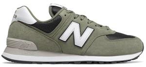 Zielone buty sportowe New Balance 574 z zamszu