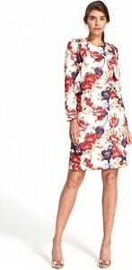 Sukienka Nife z długim rękawem mini z okrągłym dekoltem