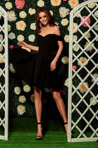 Sukienka Lemoniade mini hiszpanka z krótkim rękawem