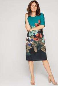 Sukienka Lavard z okrągłym dekoltem midi