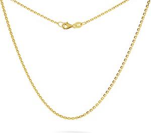 GIORRE SREBRNY ŁAŃCUSZEK ANKER DIAMENTOWANY 925 : Długość (cm) - 45, Kolor pokrycia srebra - Pokrycie Żółtym 24K Złotem