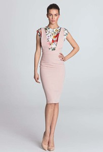 Sukienka Nife midi ołówkowa z okrągłym dekoltem