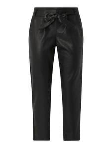 Czarne spodnie S.Oliver Red Label ze skóry ekologicznej