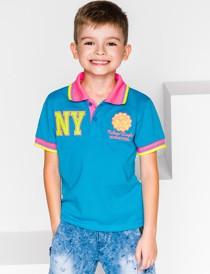 Niebieska koszulka dziecięca Ombre Clothing z bawełny