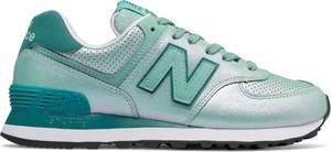 Niebieskie buty sportowe New Balance 574 z płaską podeszwą
