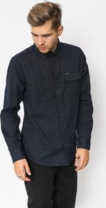 Granatowa koszula Volcom z bawełny z długim rękawem w stylu casual