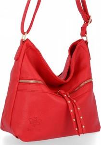 Czerwona torebka Bee Bag ze skóry ekologicznej