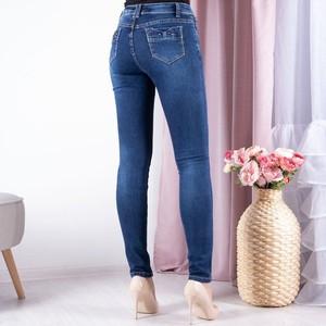 Niebieskie jeansy Royalfashion.pl z jeansu