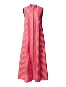 Różowa sukienka MaxMara Studio koszulowa z bawełny bez rękawów