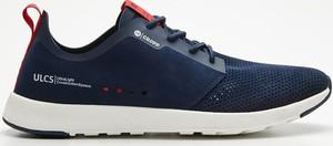 Granatowe buty sportowe Cropp sznurowane