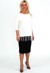 Bluzka Roxana - sukienki w stylu boho z okrągłym dekoltem
