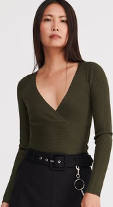 Bluzka Reserved z dekoltem w kształcie litery v w stylu casual