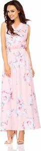 Różowa sukienka Lemoniade maxi z dekoltem w kształcie litery v bez rękawów