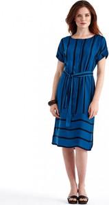 Sukienka POTIS & VERSO z krótkim rękawem z okrągłym dekoltem koszulowa