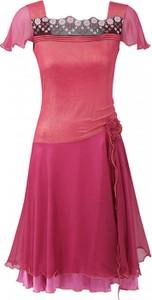 Różowa sukienka POTIS & VERSO z tkaniny