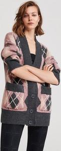 Sweter Reserved w stylu casual w geometryczne wzory