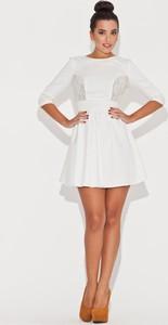 Sukienka Katrus z długim rękawem mini z okrągłym dekoltem