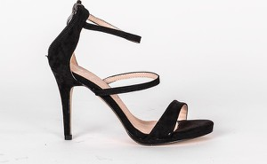 Czarne sandały HERS.pl na wysokim obcasie