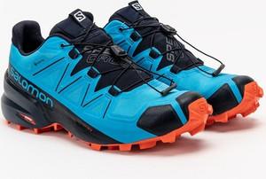 Niebieskie buty trekkingowe Salomon sznurowane
