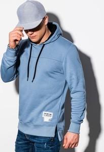 Niebieska bluza Ombre z bawełny w młodzieżowym stylu