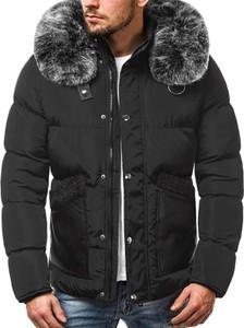 Czarna kurtka ozonee.pl w stylu casual z bawełny