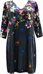 Sukienka Yumi z długim rękawem z weluru