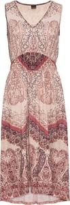 Sukienka bonprix BODYFLIRT w stylu casual z dekoltem w kształcie litery v z dżerseju