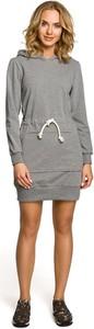 Sukienka MOE mini sportowa z długim rękawem
