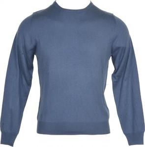 Niebieski sweter Heritage z kaszmiru