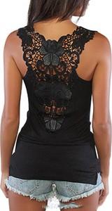 Czarna bluzka Cikelly z okrągłym dekoltem