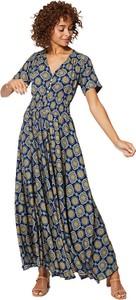 Sukienka Aller Simplement z dekoltem w kształcie litery v z krótkim rękawem