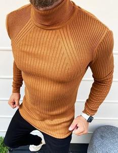 Brązowy sweter Dstreet w stylu casual
