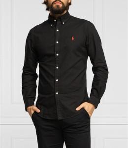 Czarna koszula POLO RALPH LAUREN z długim rękawem