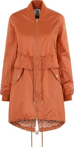 Pomarańczowy płaszcz Ochnik w stylu casual