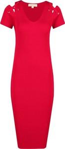 Sukienka Michael Kors z krótkim rękawem midi