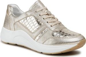 Buty sportowe Caprice na platformie ze skóry