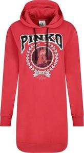 Czerwona sukienka Pinko mini prosta