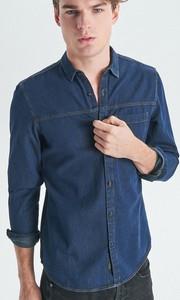 Koszula Cropp z jeansu z długim rękawem