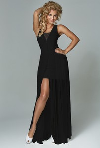 Czarna sukienka Marselini bez rękawów