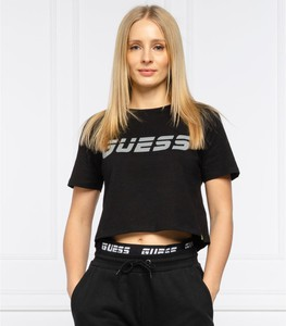 T-shirt Guess Active z krótkim rękawem w młodzieżowym stylu