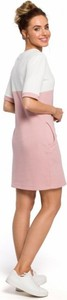 Różowa sukienka MOE z bawełny mini