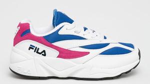 Sneakersy Fila na platformie sznurowane