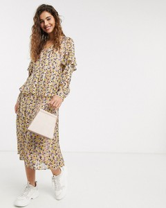 Sukienka Pieces z długim rękawem