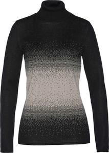 Szary sweter bonprix bpc selection bez wzorów